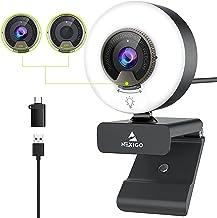 NexiGo N960E 1080P 60FPS Webcam with Light, Software Included, Fast AutoFocus, Built-in Privacy Cover, USB Web Camera, Dua...