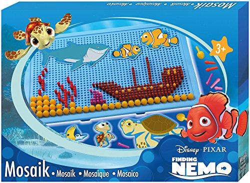 SIMM Spielwaren Lena 35566 – Mosaïque Set Disney Nemo, Plateau env. 28 x 19 cm, fiche Tailles 0,5 cm et 1 cm