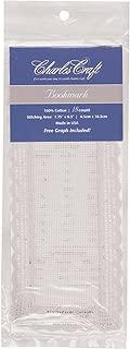 DMC BO0780-6750 Cotton Bookmark Edged Lace, White