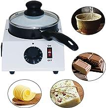 RANZIX Fontaine à chocolat en forme de pot de beurre de lait fondant machine à fondre + pot en céramique
