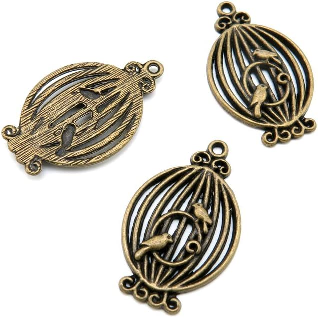 480 shop Pieces Jewelry Charlotte Mall Making Charms Bronze Brass Antique Findings F