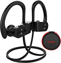 Mpow Flame Bluetooth Headphones Waterproof IPX7, Wireless Earbuds Sport, Richer Bass HiFi Stereo in-Ear Earphones w/Case, 7-9 Hrs Playback, Noise Cancelling Microphone (Comfy & Fast Pairing), Black