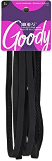 Goody Corporate Slideproof Headwrap Thin with Spikey Silicone, Black, 5 Count (Pack of 3)