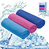 NEWYANG Ice Towel Stay Cool - 3 Pack Ice Cooling Towels for Sports