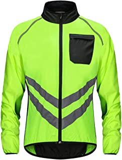 Reflective Windproof Cycling Clothes Waterproof Bicycles Visibility Coat