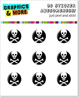 Graphics and More Skull and Crossbones Home Button Stickers Fits Apple iPhone 4/4S/5/5C/5S, iPad, iPod Touch - Non-Retail Packaging - Clear