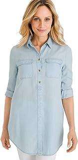 21b7621176 Chico s Women s Basic Denim Medium-Wash Shirt Denim