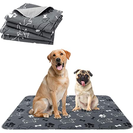 PAWCHIE Washable Pee Pads for Dogs - 2 Packs Non-Slip Reusable Dog Potty Training Mat, Super Absorbent Puppy Whelping Pad, Waterproof Dog Food Bowl Mats for Small Medium Large Dogs