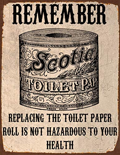 Lewistons-Of-London Bathroom Toilet Paper Roll Replace Fun Quote Vintage Retro Man Cave Bar Pub Shed Novelty Gift Tin Wall Décor Metal Sign