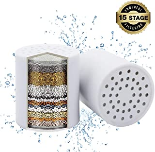 Miofilter 15-Stage Replacement Shower Filter Cartridge (2 packs) with Vitamin C, Suitable for Hard Water, Compatible Universal Shower Heads and Hand Showers - Removes Chlorine, Heavy Metals