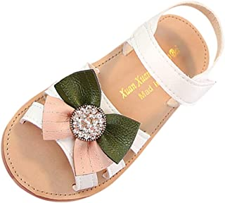 Infant Baby Girls Sandals,Kids Summer Bowknot Crystal Casual Princess Shoes Sandals
