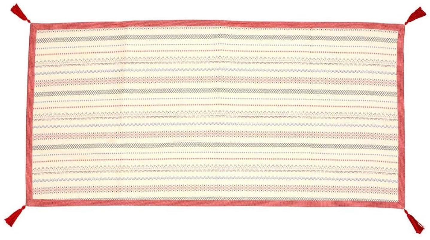 湿原楽観的有毒カーペット?ラグ 角型 関連 インド綿ボンディングラグ セポ 約90×185cm レッド