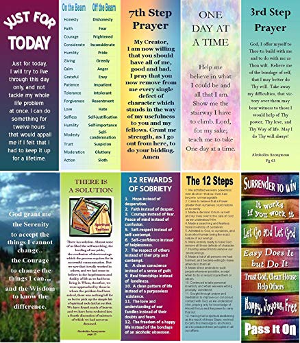AA/12 Step Recovery Bookmark Assortment 2 -Sobriety Gifts- (10)