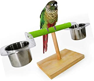 Parrot Bite Toys, Bird Toys, Colorful Frosted Stick Swing, Stand Frame Suspension Bridge, Eating Basin Cup Rack