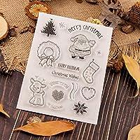 クリスマス透明クリアシリコンスタンプ/DIYスクラップブッキング用シール/フォトアルバム装飾クリアスタンプA1306