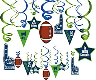 CC HOME Sport Football Game Day Party Decoration ,Football Hanging Swirl Decorations ,Touchdown Football Ceiling Streamers Decorations 30 PCS ,Football Sport Theme Party Favor for Girls ,Boys ,Kids Home ,Classroom ,Football Party,Tailgate Party,Baby Showers ,Birthday Party Supplies