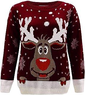 Women Christmas Sweater Tops, Ladies Xmas Printed Long Sleeve T-shirt Blouse Sweatshirt Tops
