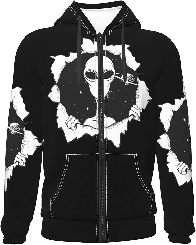 Creative Alien Pattern Teenage Zipper Home,Sweater Among Warm Fa