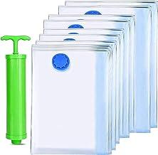 Bolsas de Almacenamiento de Vacío,10 Unidades Reutilizable Bolsas de Vacio Ahorro de Espacio Almacenaje al Vacío.