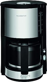 Krups Km321 Proaroma Plus Cam Kahve Makinesi, 10 Fincan, 1100 W, Modern Tasarım, Siyah, Paslanmaz Çelik Uygulamalı