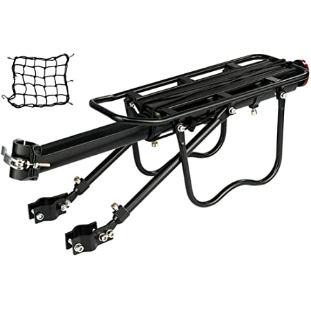 Quick Release Bicycle Bike Seatpost Alloy Rear Rack Carrier Pannier Protect