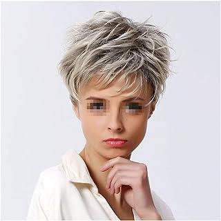 Pelucas de cabeza completa para mujer cabello rizado corto gris plateado natural de 11 para el vestido diario Cosplay P...
