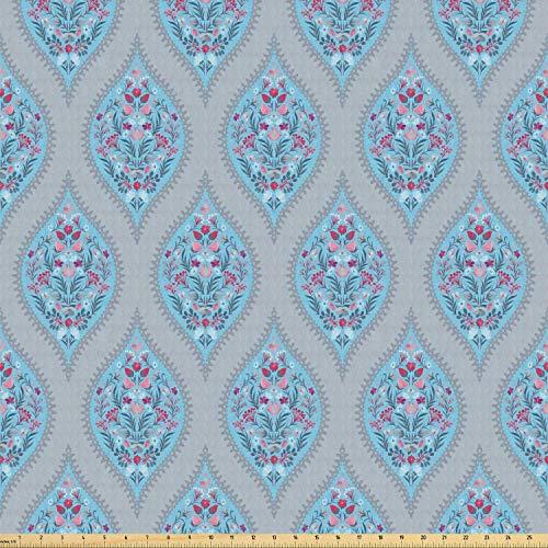 Juego de pegatinas decorativas para azulejos, decoración de estilo retro ruso tradicional Ogee Inspi Wild Flowers, multicolor 40,6 x 40,6 cm Peel & Stick vinilo azulejos piso calcomanía 12 unidades