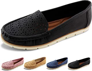 Womens Penny Loafers Breathable Slip on Flat Shoes Moccasins
