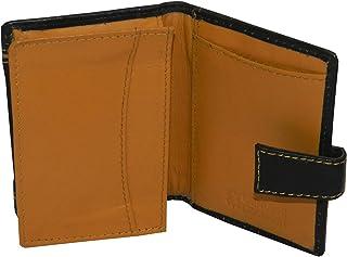 Laveri Genuine Leather Credit Card Holder Wallet Unisex Bill and Card Holder - Leather, Black and Tan