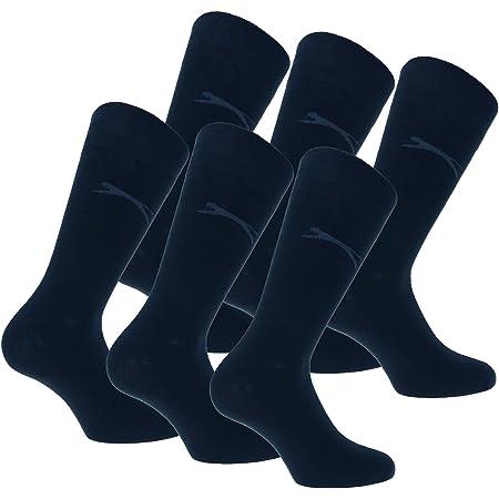 Slazenger 6 Pairs of men's comfortable stretch socks Mid-calf height, Cotton, Elastic fiber Lycra (Blue, 6-9)