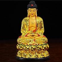 Resin Sakyamuni Buddha Statue Meditation Peace Harmony Statue Religious Decoration Southeast Asian Style Crafts 17×17×30cm...