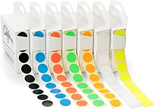 7-Pack Sticker Dots for Home & Office, 19mm Multi-Colored Dot Stickers w/Dispenser, 3/4-in Color Coding Dots for Inventory, Dot Labels for School, 7000 Color Coded Stickers Multipack (1000 per Color)