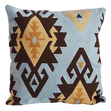 LEOWOO Abstract Geometric Pillowcase Pillow Covers 18x18 Modern Embroidery Bohemian Cushion Covers 18 x18 (45cm x45cm) (A)