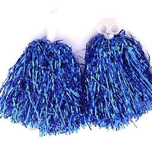 Markcur Pompons pom-pom girls - Pour le sport, la danse - Bleu