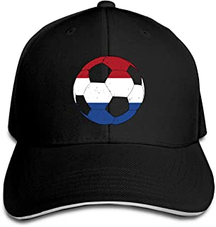 WHW45HAT Men's Women's Netherlands Flag Football Soccer Golf Hat Baseball Cap