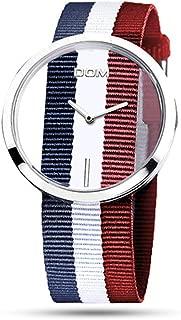 腕時計 レディース カジュアル シンプル 防水 (トリコロール)