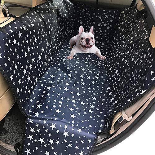 Funda Coche Mascotas Patrón de Estrella Cama Perro Barata para Perros, Protector de Cubierta de Bota de Todoterreno - Impermeable, Resistente a La Suciedad con Protector Lateral y Parachoques Forro d