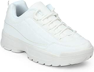 TRUFFLE COLLECTION Women's CUB3 White Synthetic Sneakers