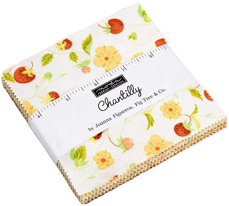 Chantilly Charm Pack by Joanna Figueroa of Fig Tree Quilts; 42-5 Inch Precut Fabric Quilt Squares