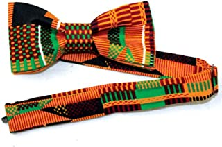 African Inspired Fashions Kente Bow Tie - Pattern 2