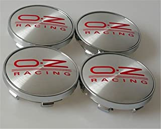 4/ x oz Rueda Centro Tapa 60/ mm aleaci/ón Hub Cover oz Racing Sport Center Caps Plata//Rojo
