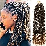 Passion Twist Hair, 7 paquetes de pelo de ganchillo con onda