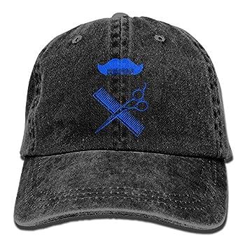 JINYOUR Cowboy Hat Haircut Beard Adult Adjustable Washed Baseball Cap