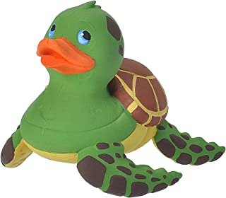"""Wild Republic Rubber Duck, Gifts for Kids, Bath Toys, Mould Free Pool Toys, Sea Turtle, 4"""""""