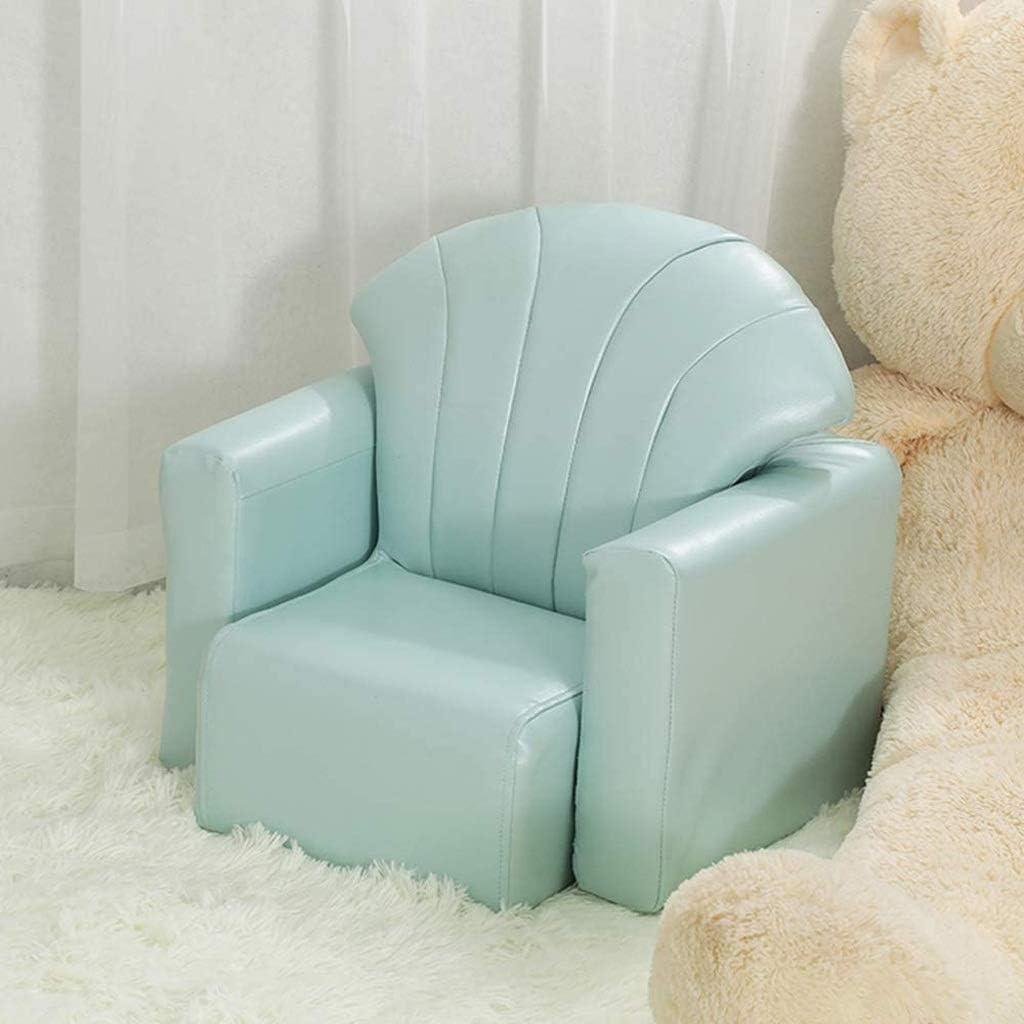 Diaod Enfants Canapé-Enfant Chaise Accoudoirs Salon Tout-Petits Meubles for Les Enfants d'âge préscolaire avec PU Cuir (Color : A) B