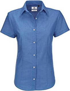 B&C Ladies Oxford Short Sleeve Shirt/Ladies Shirts