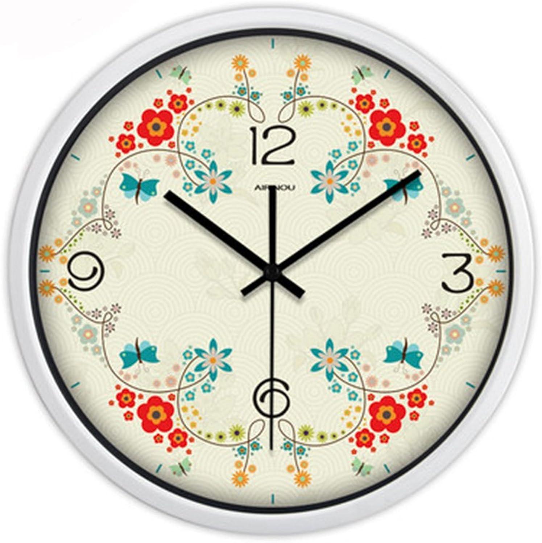 las mejores marcas venden barato ASL Ronda Creativa Sala de Estar Moderna Moderna Moderna Pastoral Reloj de Parojo Reloj de Cuarzo Grande Reloj de Cuarzo Tabla Colgante blancoo, Tamaño   Metro  la mejor selección de