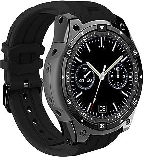 True-Ying - Reloj Inteligente Deportivo Impermeable con Bluetooth, Monitor de presión Arterial con frecuencia cardíaca, Pantalla Redonda Completa de 512 + 8 G de 1,3 Pulgadas