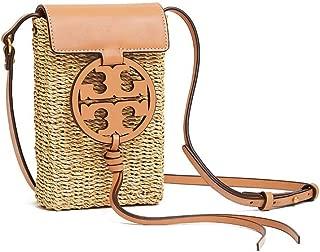 Miller Straw Dark Vachetta Smartphone Crossbody Messenger Bag