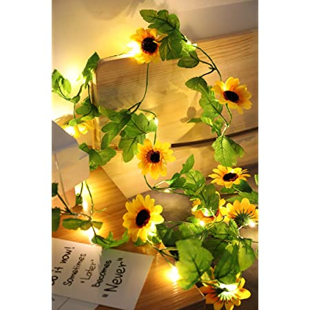 Artificial Sunflower 20Leds String Light for Home Wedding Party Bedroom Decor